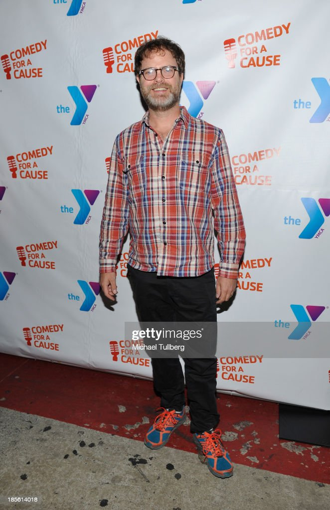 Actor <a gi-track='captionPersonalityLinkClicked' href=/galleries/search?phrase=Rainn+Wilson&family=editorial&specificpeople=534993 ng-click='$event.stopPropagation()'>Rainn Wilson</a> attends the 10th Annual Comedy For A Cause event benefiting the Hollywood Wilshire YMCA at The Laugh Factory on October 22, 2013 in West Hollywood, California.