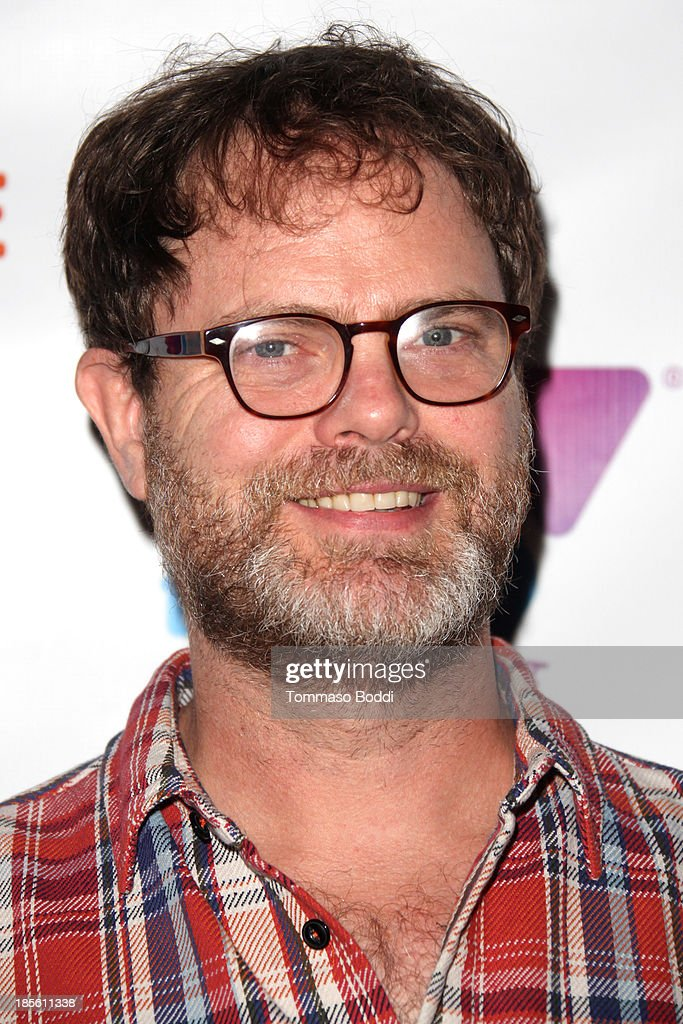 Actor <a gi-track='captionPersonalityLinkClicked' href=/galleries/search?phrase=Rainn+Wilson&family=editorial&specificpeople=534993 ng-click='$event.stopPropagation()'>Rainn Wilson</a> attends the 10th annual Comedy For A Cause benefiting Hollywood Wilshire YMCA held at The Laugh Factory on October 22, 2013 in West Hollywood, California.