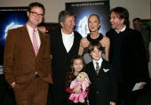 Actor Rainn Wilson cochairman of New Line Cinema and director Bob Shaye actress Joely Richardson and actor Timothy Hutton with Rhiannon Leigh Wryn...
