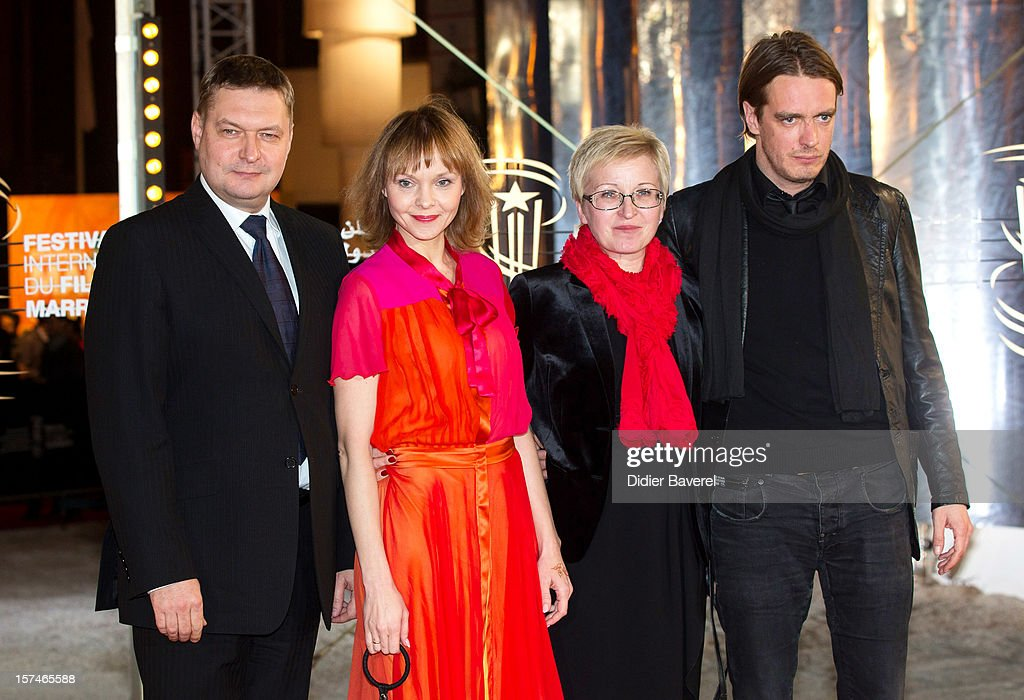 Actor Raivo E. Tamm, Actress Elina Reinold, producer Piret Tibbo-Hudgins and Juhan Ulfsak attend the 12th International Marrakech Film Festival on December 3, 2012 in Marrakech, Morocco.