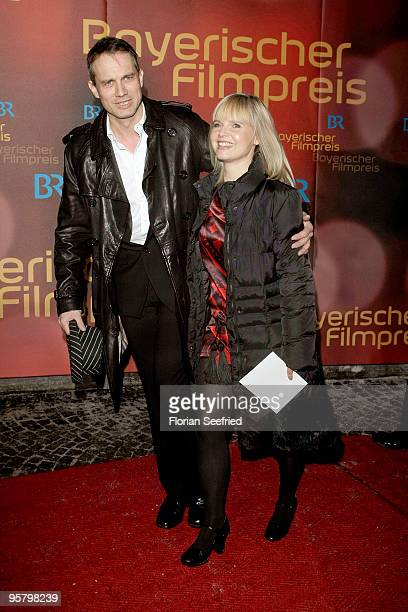 Actor Ralf Bauer and Bojana attend the Bavarian Movie Award 2010 at the Prinzregententheater on January 15 2010 in Munich Germany