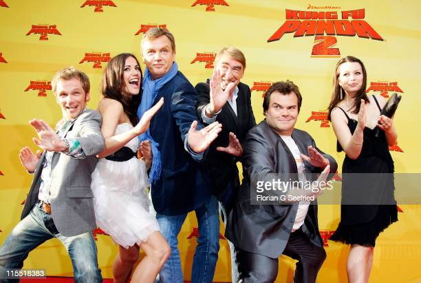 Actor Ralf Schmitz actress Bettina Zimmermann actor Hape Kerkeling actor Gottfried John actor Jack Black and actress Cosma Shiva Hagen attend the...