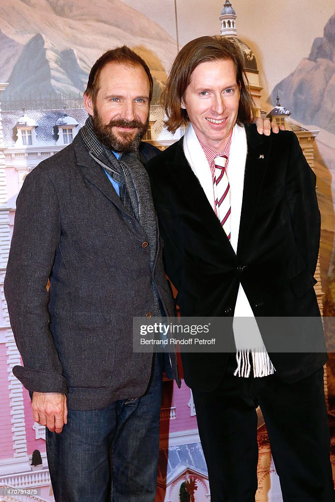 Actor <a gi-track='captionPersonalityLinkClicked' href=/galleries/search?phrase=Ralph+Fiennes&family=editorial&specificpeople=206461 ng-click='$event.stopPropagation()'>Ralph Fiennes</a> and director of the movie <a gi-track='captionPersonalityLinkClicked' href=/galleries/search?phrase=Wes+Anderson&family=editorial&specificpeople=217728 ng-click='$event.stopPropagation()'>Wes Anderson</a> attend 'The Grand Budapest Hotel' Paris Premiere at Cinema Gaumont Opera Capucines on February 20, 2014 in Paris, France.