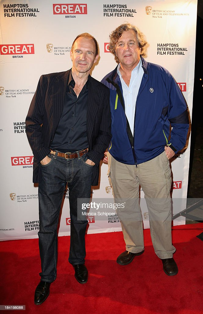 Actor <a gi-track='captionPersonalityLinkClicked' href=/galleries/search?phrase=Ralph+Fiennes&family=editorial&specificpeople=206461 ng-click='$event.stopPropagation()'>Ralph Fiennes</a> (L) and Sony Pictures Classics' Co-President <a gi-track='captionPersonalityLinkClicked' href=/galleries/search?phrase=Tom+Bernard&family=editorial&specificpeople=204620 ng-click='$event.stopPropagation()'>Tom Bernard</a> attend the 21st Annual Hamptons International Film Festival on October 11, 2013 in East Hampton, New York.