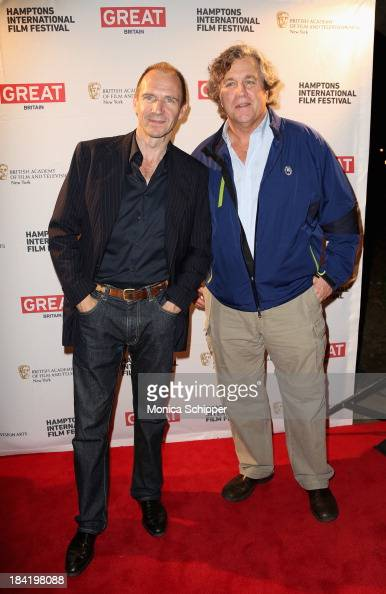Actor Ralph Fiennes and Sony Pictures Classics' CoPresident Tom Bernard attend the 21st Annual Hamptons International Film Festival on October 11...