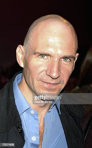 Actor Ralph Fiennes arrives at the opening night of the Raindance Film Festival showing 'Brothers of the Head' at Cineworld Cinemas Haymarket on...