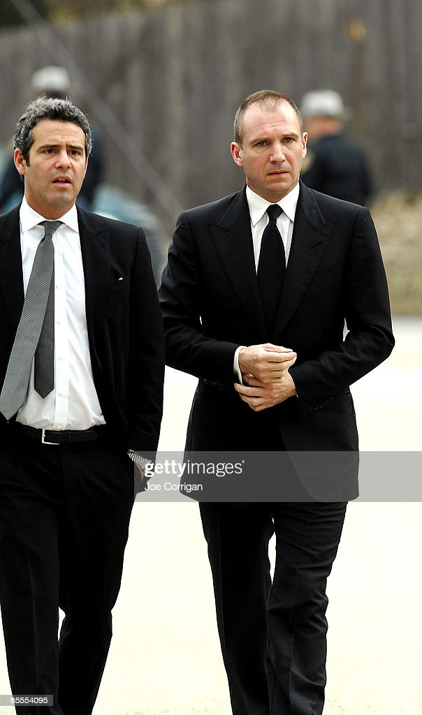 Actor Ralph Fiennes arrives for the funeral of actress Natasha Richardson at St Peter's Lithgow Episcopal Church on March 22 2009 in Lithgow New York...