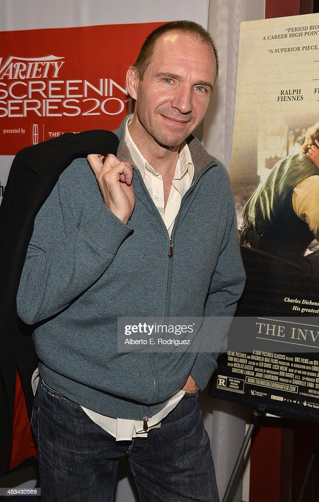 Actor Ralph Fiennes attends the 2013 Variety Screening Series of 'The Invisible Woman' at ArcLight Cinemas on December 3, 2013 in Hollywood, California.