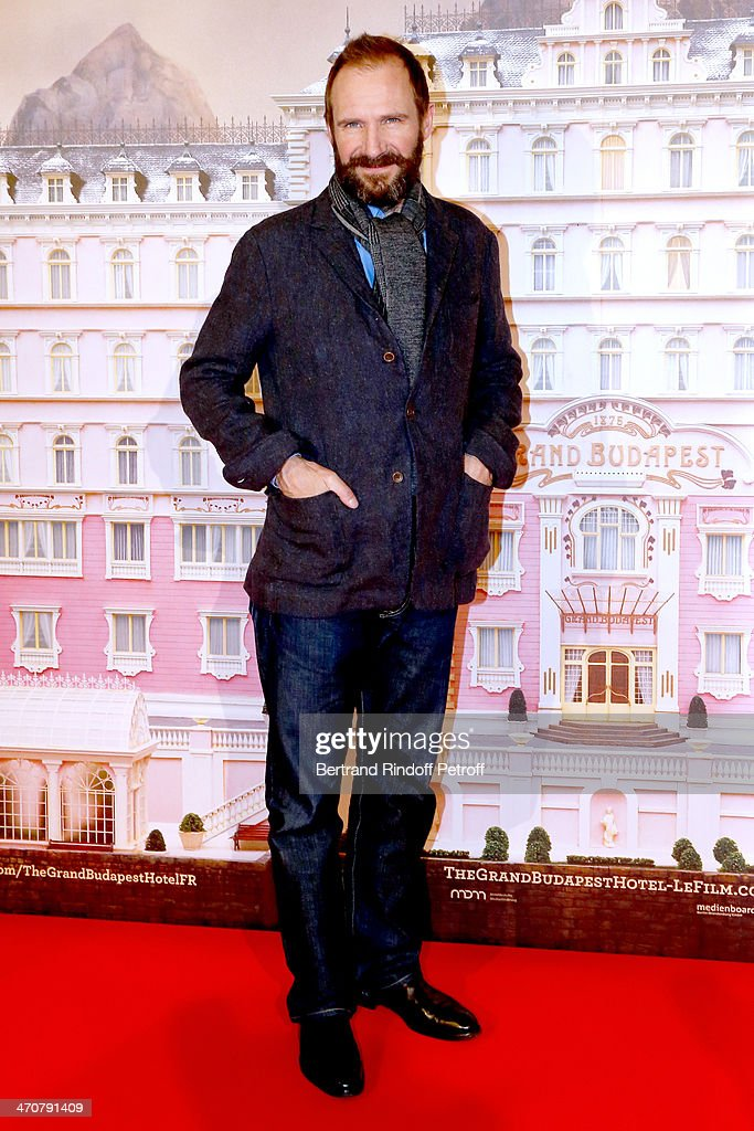 Actor <a gi-track='captionPersonalityLinkClicked' href=/galleries/search?phrase=Ralph+Fiennes&family=editorial&specificpeople=206461 ng-click='$event.stopPropagation()'>Ralph Fiennes</a> attends 'The Grand Budapest Hotel' Paris Premiere at Cinema Gaumont Opera Capucines on February 20, 2014 in Paris, France.