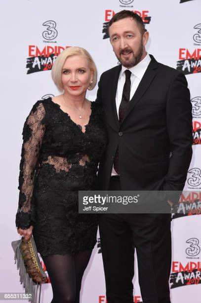 Actor Ralph Ineson with his wife Ali Ineson attend the THREE Empire awards at The Roundhouse on March 19 2017 in London England
