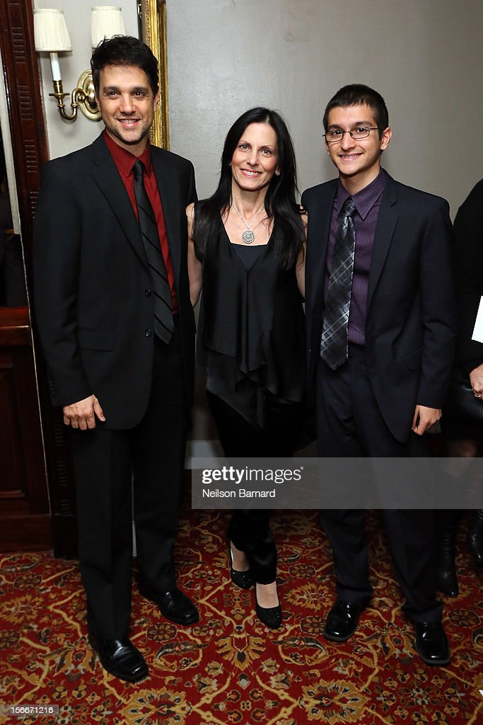 Actor <a gi-track='captionPersonalityLinkClicked' href=/galleries/search?phrase=Ralph+Macchio&family=editorial&specificpeople=235426 ng-click='$event.stopPropagation()'>Ralph Macchio</a> and family attend the 'Hitchcock' New York Premiere After Party at 21 Club on November 18, 2012 in New York City.