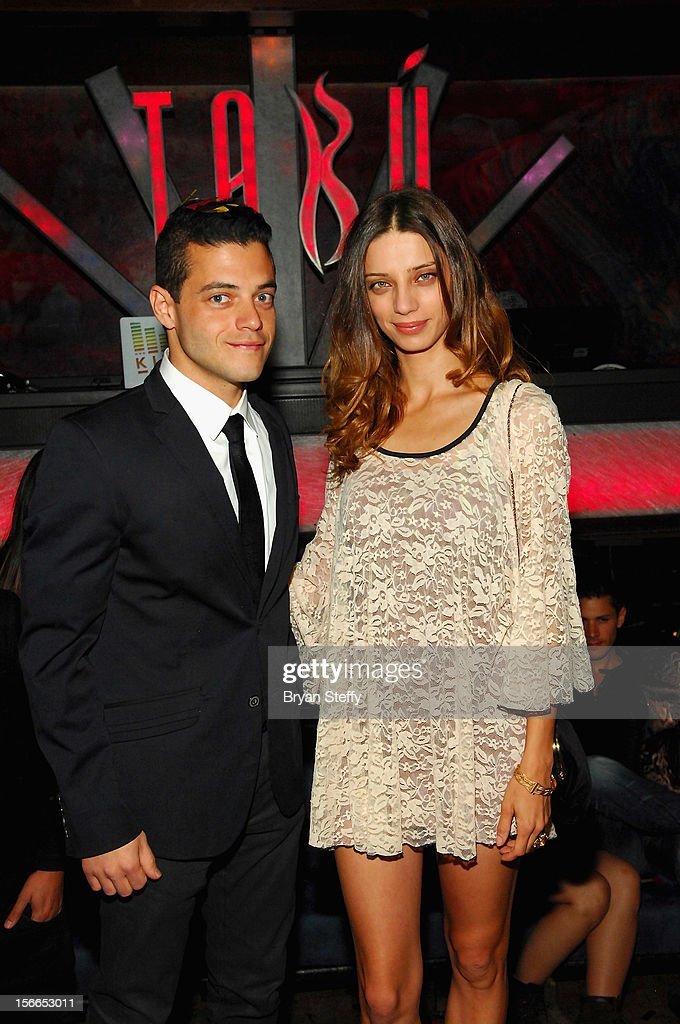 Actor Rami Malek and actress Angela Sarafyn appear at the Tabu Ultra Lounge at the MGM Grand Hotel/Casino on November 17, 2012 in Las Vegas, Nevada.
