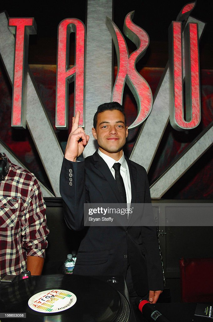 Actor <a gi-track='captionPersonalityLinkClicked' href=/galleries/search?phrase=Rami+Malek&family=editorial&specificpeople=2194697 ng-click='$event.stopPropagation()'>Rami Malek</a> appears at the Tabu Ultra Lounge at the MGM Grand Hotel/Casino on November 17, 2012 in Las Vegas, Nevada.