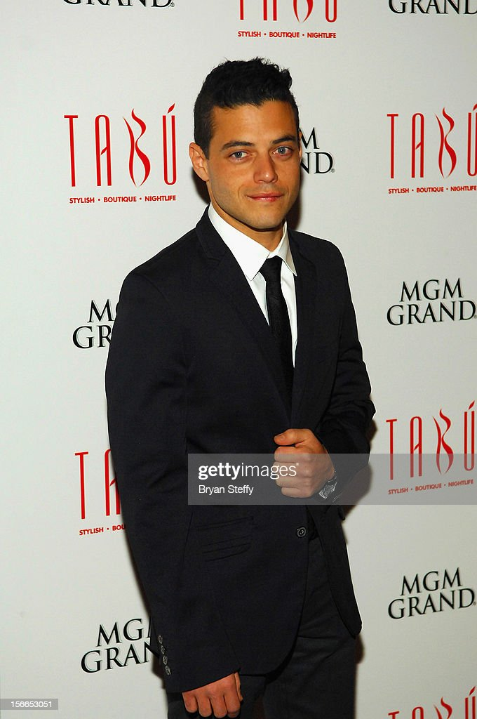 Actor Rami Malek arrives at the Tabu Ultra Lougne at the MGM Grand Hotel/Casino on November 17, 2012 in Las Vegas, Nevada.