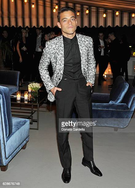 Actor Rami Malek attends a private dinner hosted by GQ and Dior Homme in celebration of the 2016 GQ Men of The Year party at Chateau Marmont on...