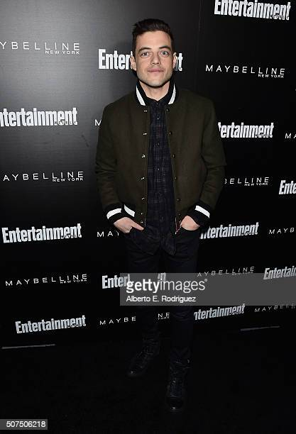 Actor Rami Malek attends Entertainment Weekly's celebration honoring THe Screen Actors Guild presented by Maybeline at Chateau Marmont on January 29...