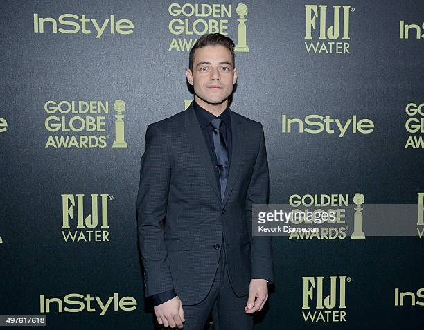 Actor Rami Malek attends Hollywood Foreign Press Association and InStyle Celebration of The 2016 Golden Globe Award Season at Ysabel on November 17...