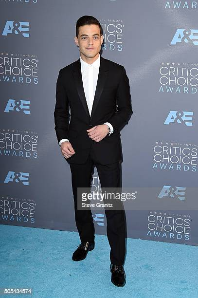 Actor Rami Malek attends the 21st Annual Critics' Choice Awards at Barker Hangar on January 17 2016 in Santa Monica California