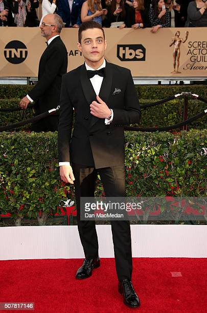 Actor Rami Malek attends the 22nd Annual Screen Actors Guild Awards at The Shrine Auditorium on January 30 2016 in Los Angeles California