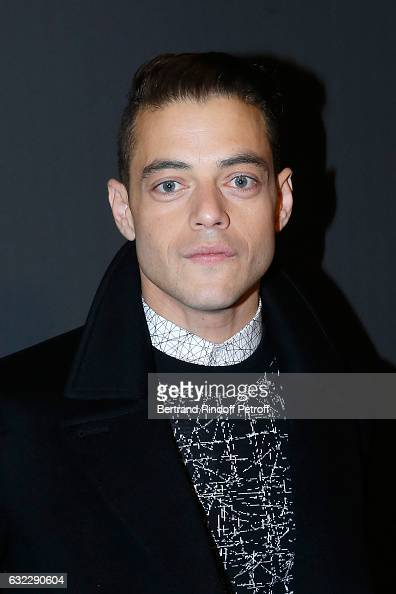 Actor Rami Malek attends the Dior Homme Menswear Fall/Winter 20172018 show as part of Paris Fashion Week on January 21 2017 in Paris France