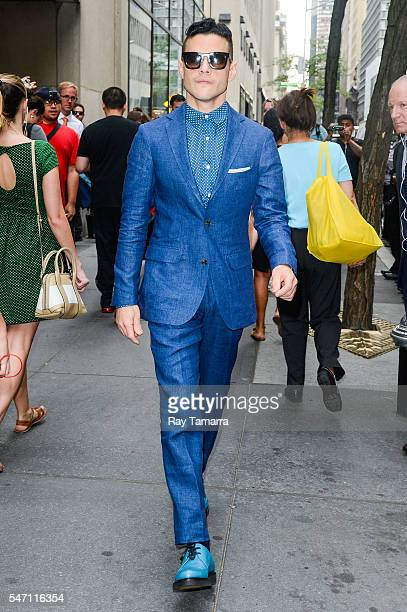 Actor Rami Malek leaves the 'Today Show' taping at NBC Rockefeller Center Studios on July 13 2016 in New York City