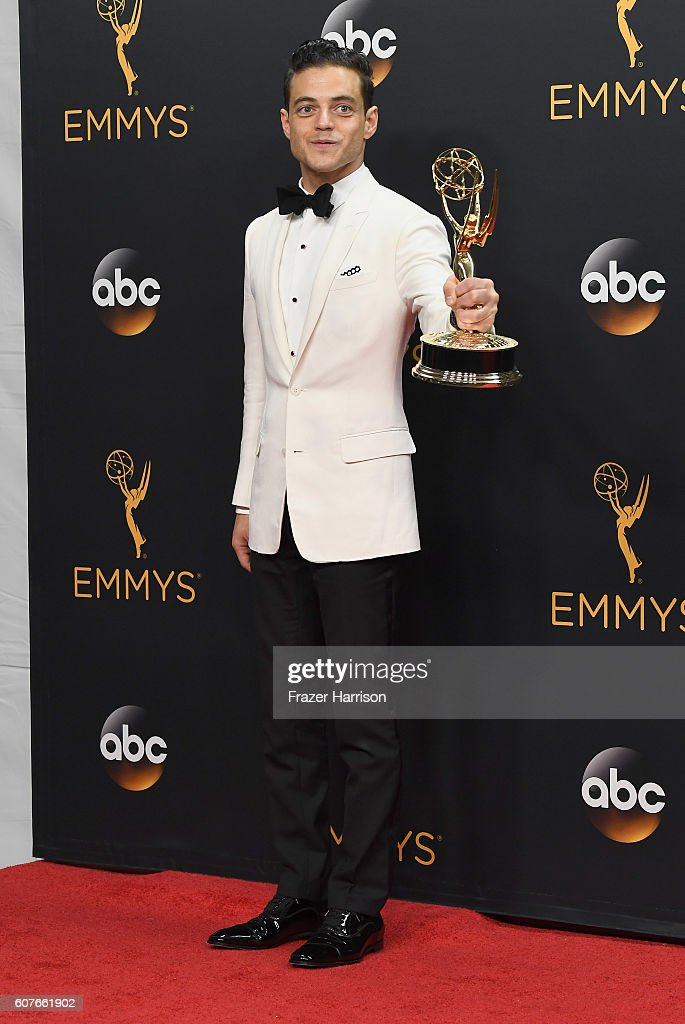 Actor Rami Malek, winner of Best Actor in a Drama Series for 'Mr. Robot', poses in the press room during the 68th Annual Primetime Emmy Awards at Microsoft Theater on September 18, 2016 in Los Angeles, California.