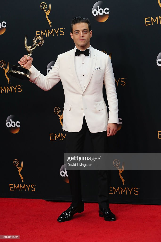Actor Rami Malek, winner of Outstanding Lead Actor in a Drama Series for 'Mr. Robot' poses in the 68th Annual Primetime Emmy Awards Press Room at the Microsoft Theater on September 18, 2016 in Los Angeles, California.