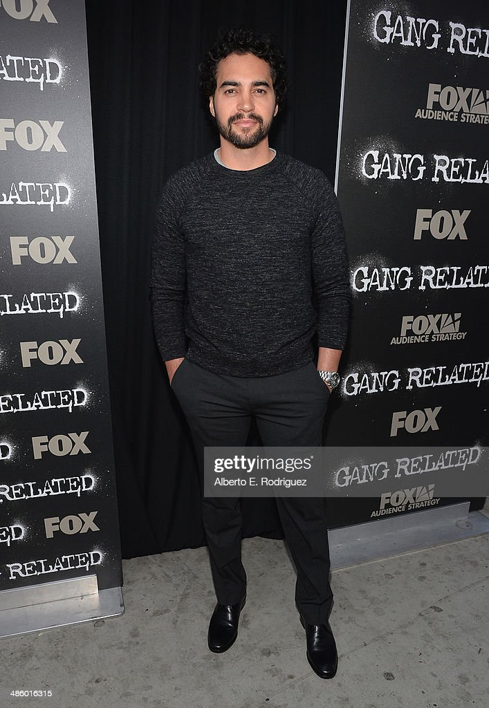 Actor <a gi-track='captionPersonalityLinkClicked' href=/galleries/search?phrase=Ramon+Rodriguez&family=editorial&specificpeople=73608 ng-click='$event.stopPropagation()'>Ramon Rodriguez</a> arrives to the premiere of Fox's 'Gang Releted' at Homeboy Industries on April 21, 2014 in Los Angeles, California.