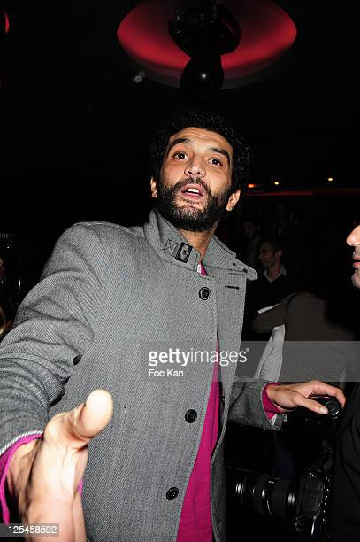 Actor Ramzy Bedia attends 'Les Petits Mouchoirs' Premiere After Party at L'Arc Club on October 14 2010 in Paris France