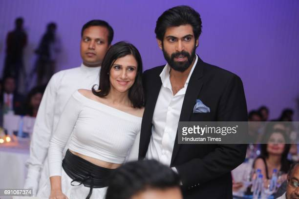 Actor Rana Daggubati and Fashion Designer Rina Dhaka during the Hindustan Times Game Changer Awards 2017 at Hotel Oberoi on May 24 2017 in Gurgaon...