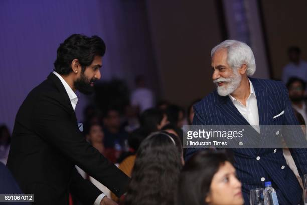Actor Rana Daggubati and FDCI President Sunil Sethi during the Hindustan Times Game Changer Awards 2017 at Hotel Oberoi on May 24 2017 in Gurgaon...