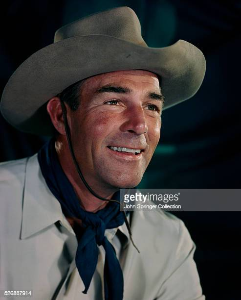 Actor Randolph Scott Wearing Cowboy Hat