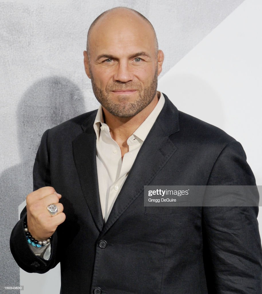 Actor Randy Couture arrives at Los Angeles premiere of 'The Expendables 2' at Grauman's Chinese Theatre on August 15, 2012 in Hollywood, California.