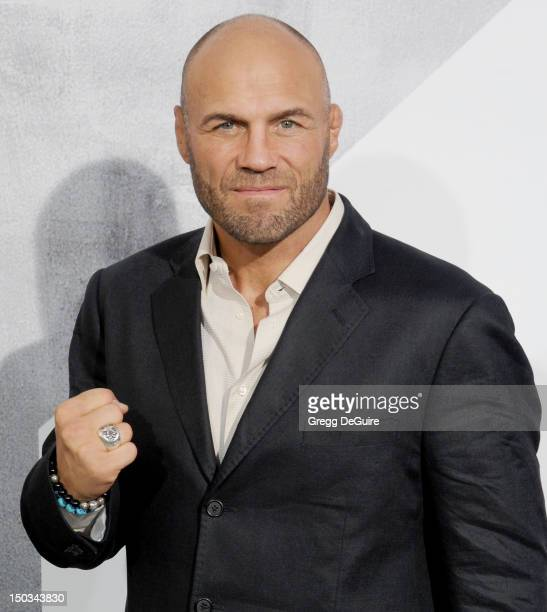 Actor Randy Couture arrives at Los Angeles premiere of 'The Expendables 2' at Grauman's Chinese Theatre on August 15 2012 in Hollywood California