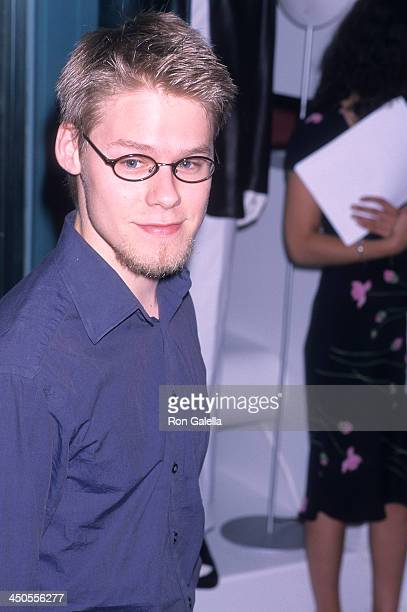 Actor Randy Harrison attends the New Group Spring Gala Cocktail Party on June 18 2001 at Hugo Boss Fifth Avenue in New York City