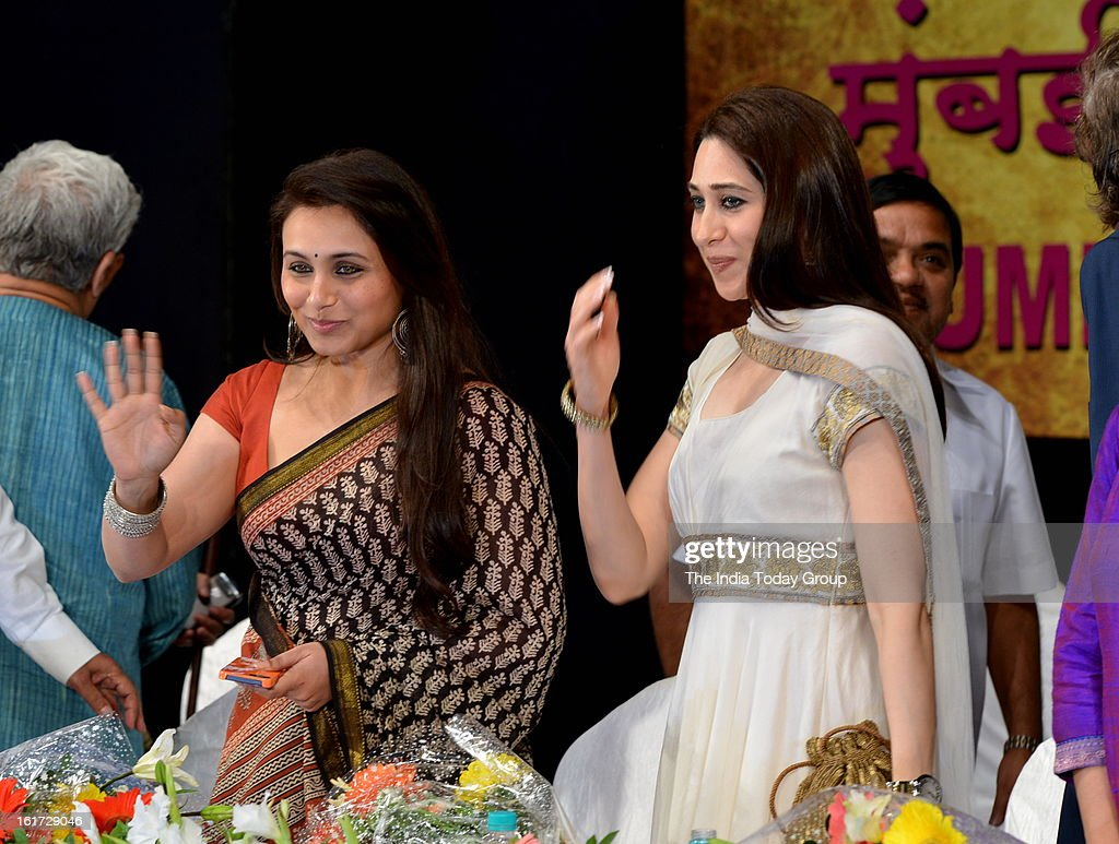 Actor Rani Mukerji and Karisma Kapoor at the function organised to create awareness among women as a part of the ongoing drive initiated by the Mumbai Police.