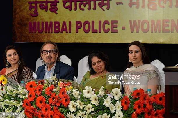 Actor Rani Mukerji with ad filmmaker Alyque Padamsee and Karisma Kapoor at the function organised to create awareness among women as a part of the...
