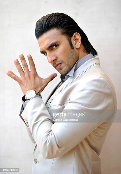 Actor Ranveer Singh poses during a portrait session at the 8th Annual Dubai International Film Festival held at the Madinat Jumeriah Complex on...