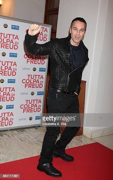 Actor Raoul Bova attends 'Tutta colpa di Freud' premiere at Teatro dell'Opera on January 20 2014 in Rome Italy