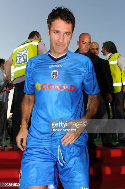 Actor Raoul Bova of Nazionale Cantanti attends the XIX Partita Del Cuore charity football game at on May 25 2010 in Modena Italy