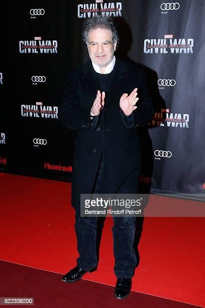 Actor Raphael Mezrahi attends the 'Captain America Civil War' Paris Premiere Held at Le Grand Rex on April 18 2016 in Paris France