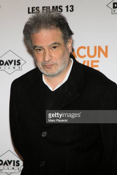 Actor Raphael Mezrahi attends the 'Chacun sa vie' Premiere at Cinema UGC Normandie on March 13 2017 in Paris France