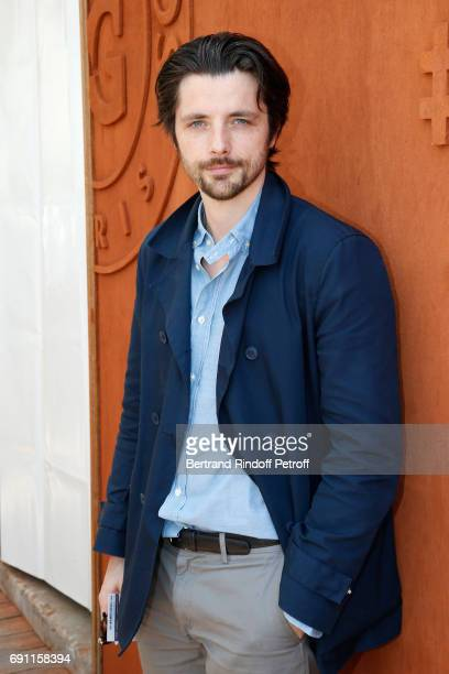 Actor Raphael Personnaz attends the 2017 French Tennis Open Day Five at Roland Garros on June 1 2017 in Paris France