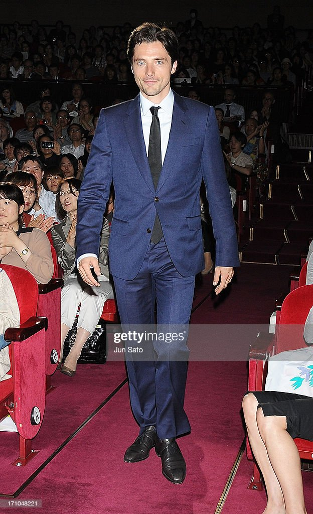 Actor Raphael Personnaz attends the French Film Festival 2013 at Yurakucho Asahi Hall on June 21, 2013 in Tokyo, Japan.