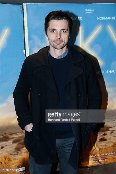 Actor Raphael Personnaz attends the 'Sky' Paris Premiere at UGC Cine Cite des Halles on April 4 2016 in Paris France