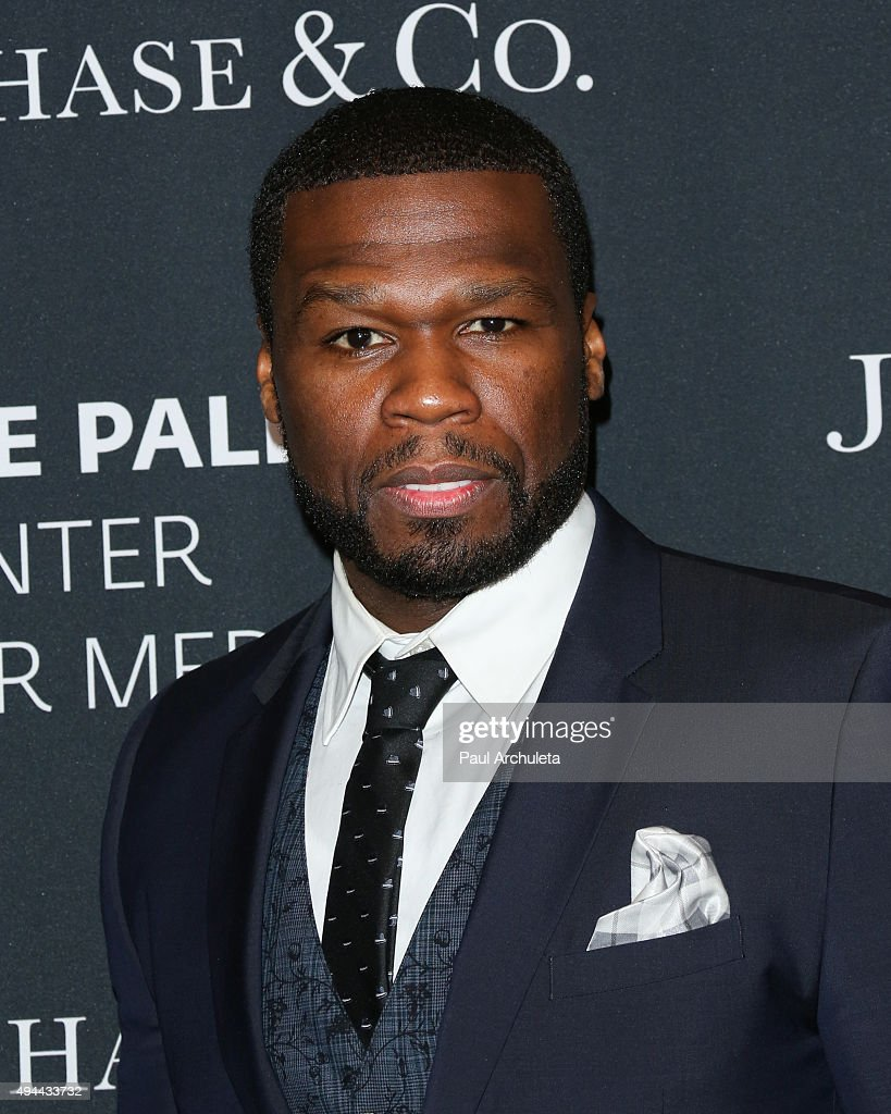 Actor / Rapper Curtis Jackson attends the Paley Center For Media's Tribute To African-American Achievements In Television at the Beverly Wilshire Four Seasons Hotel on October 26, 2015 in Beverly Hills, California.