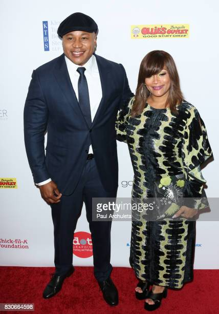 Actor / Rapper LL Cool J and Simone Smith attend the 17th Annual Harold Carole Pump Foundation Gala at The Beverly Hilton Hotel on August 11 2017 in...