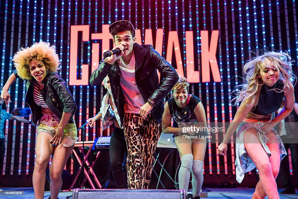Actor / rapper Roshon Fegan performs at 5 Towers Outdoor Concert Arena on March 22 2013 in Universal City California