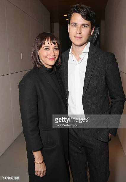 Actor Rashida Jones and musician Ezra Koenig attend UCLA IOES celebration of the Champions of our Planet's Future on March 24 2016 in Beverly Hills...
