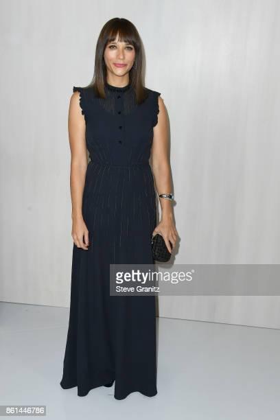 Actor Rashida Jones at Bottega Veneta Hosts Hammer Museum Gala In The Garden on October 14 2017 in Westwood California